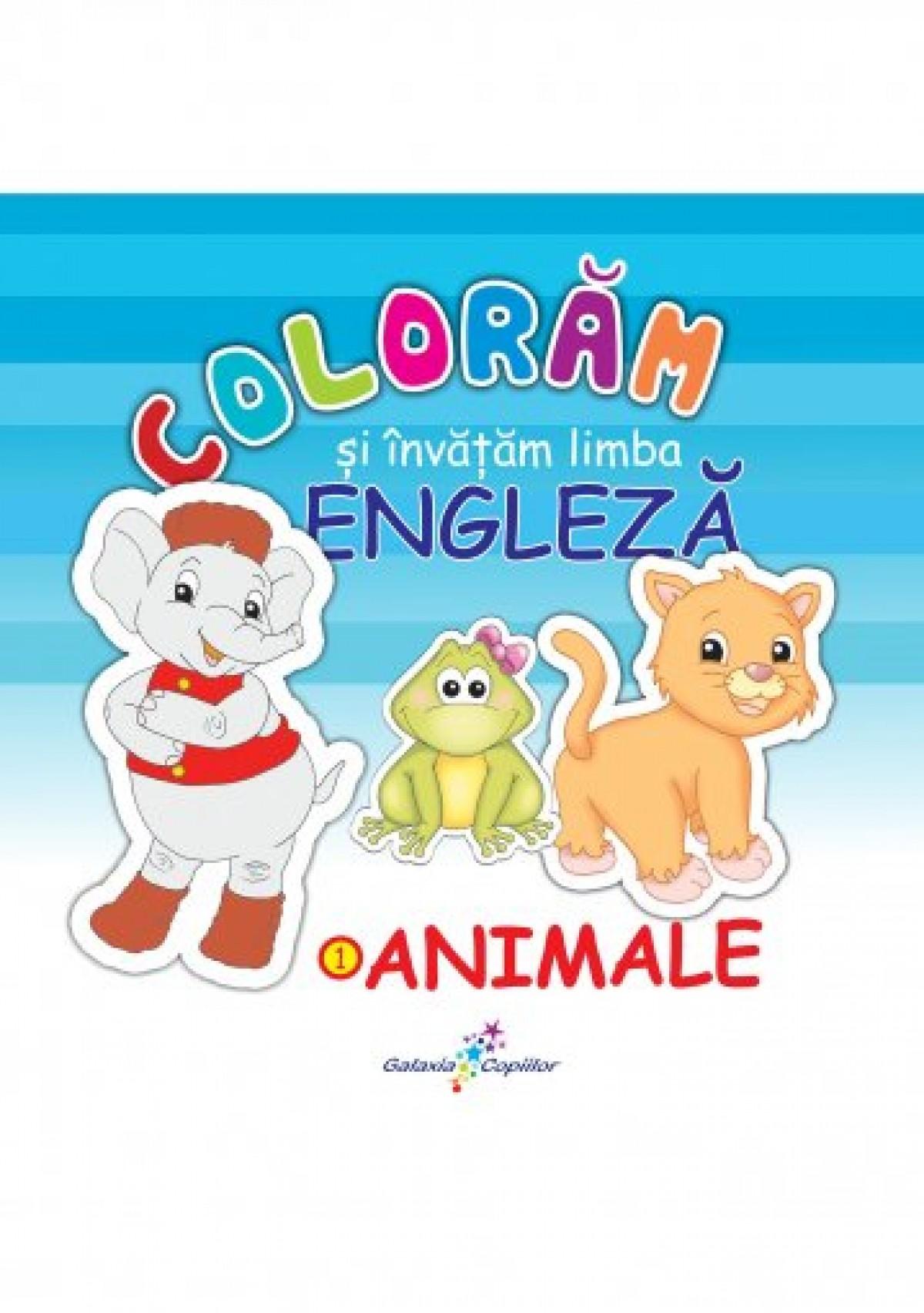 Colorăm și învățăm limba engleză – 1. ANIMALE
