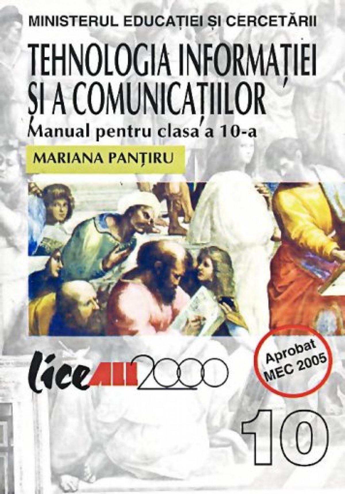 Tehnologia informatiei si comunicatiilor. Manual pentru clasa a X-a