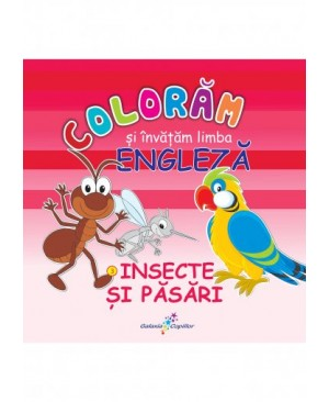 Colorăm și învățăm limba engleză (3). Insecte și păsări