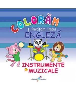 Colorăm și învățăm limba engleză (6). Instrumente muzicale