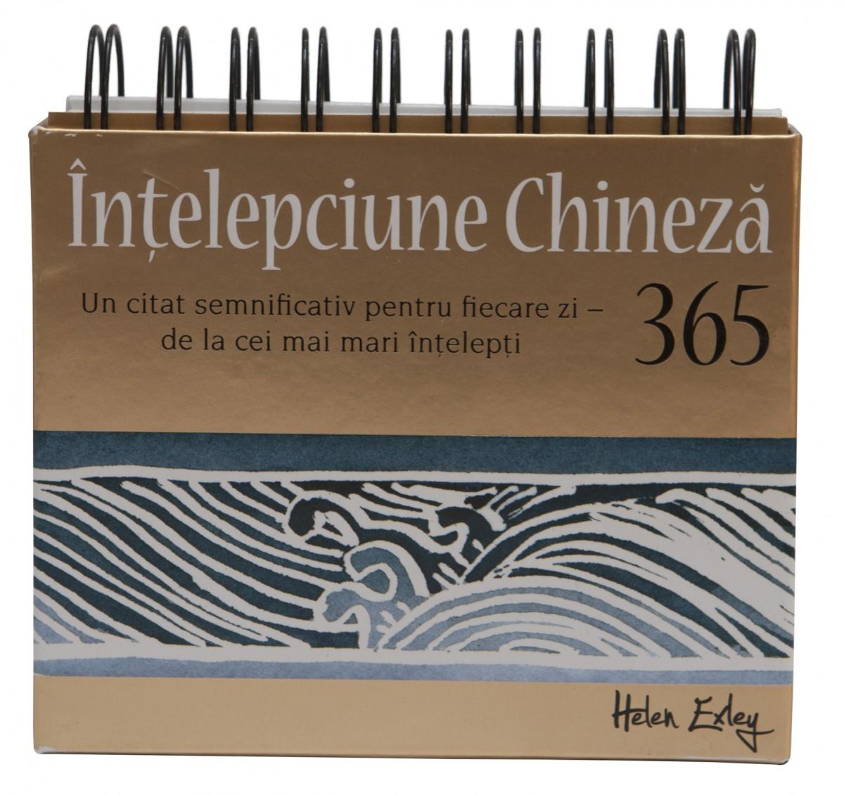 """CALENDARUL """"365 de zile:Ințelepciune chineza"""""""