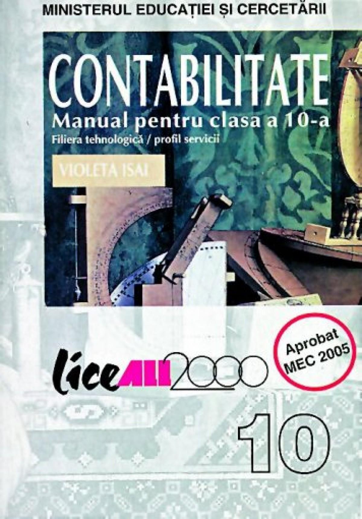 Contabilitate. Manual pentru clasa a X-a