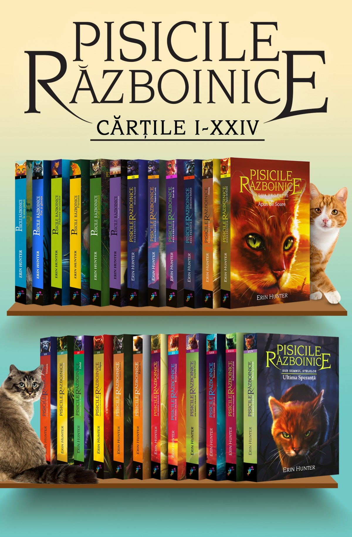 Pachet Pisicile Războinice. Cărțile I – XXIV