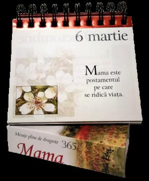 """Calendarul """"365 de mesaje pline de dragoste pentru mama"""""""